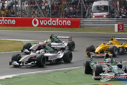 First corner: Christian Klien bypasses the chicane