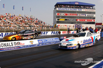 Top Alcohol Funny Car final: Chuck Cheeseman and Bob Newberry