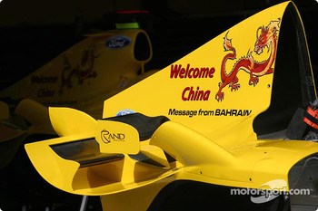 Message from Barhain on the Jordan for the Chinese GP