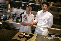 Takuma Sato tries his hand at cooking Japanese cuisine