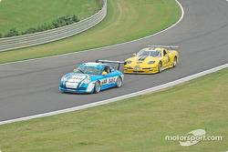 #65 The Racers Group Porsche GT3 Cup: Dave Master, Steve Pattee, #06 ICY/ SL Motorsports Corvette: Steve Lisa, David Rosenblum, Chuck Hemmingson