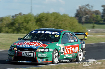 John Bowe playing catch up after being passed by Craig Lowndes
