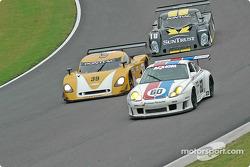 #60 Gunnar Racing Porsche GT3 RS: Gunnar Jeannette, Marino Franchitti, #39 The Spark of Georgia Tech Pontiac Crawford: Chris Hall, Andrew Davis