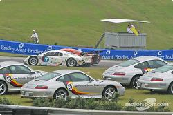 #7 Southard Motorsports BMW Fabcar: Shane Lewis, Vic Rice, #09 Spirit of Daytona Racing Chevrolet Crawford: Doug Goad, Stephane Gregoire spin