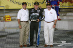 Ryan Newman receives the pole award