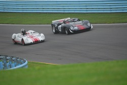 Archie Urciuoli Lola T-70 Spyder. and Doc Bundy Lotus 23B  have a battle.