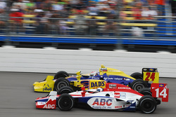 Vitor Meira, A.J. Foyt Enterprises and Graham Rahal, Dreyer and Reinbold Racing