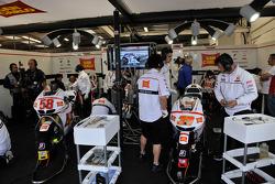 San Carlo Honda Gresini pit area