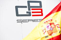 GP3 Series logo and a Spanish flag