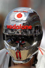Lewis Hamilton, McLaren Mercedes, reflection