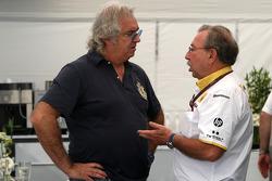 Flavio Briatore, Jean-Francois Caubet, Managing director of Renault F1
