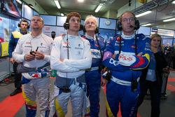 Olivier Panis, Loic Duval and Hugues de Chaunac