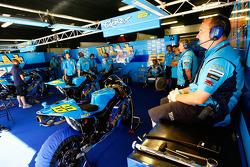 Rizla Suzuki MotoGP pit area