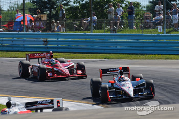 Helio Castroneves, Team Penske, Dario Franchitti, Target Chip Ganassi Racing