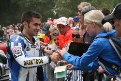 Leon Haslam signs autographs