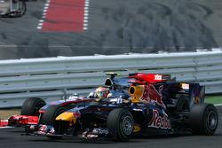 Start: Sebastian Vettel, Red Bull Racing and Lewis Hamilton, McLaren Mercedes