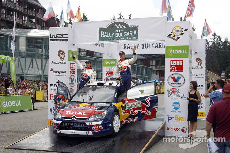Podium: fourth place Sébastien Ogier and Julien Ingrassia ...