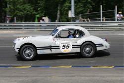 #55 Jaguar XK 140 1955: Peter Johns, David Hall