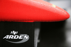 Arden logo on the nose of the car of Miki Monras