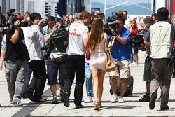 Jenson Button, McLaren Mercedes and his girlfriend