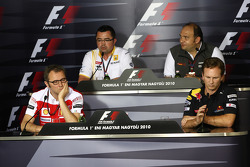 Stefano Domenicali Ferrari General Director, Eric Boullier, Team Principal, Renault F1 Team, Colin Kolles, Hispania Racing Team, Team Principal HRT, Christian Horner, Red Bull Racing, Sporting Director