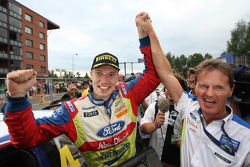 Rally winner Jari-Matti Latvala celebrates with M-Sport Supremo, Malcolm Wilson