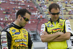 Paul Menard with crew chief, Matt Puccia