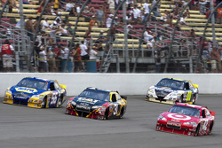 Martin Truex Jr., Michael Waltrip Racing Toyota, Jeff Burton, Richard Childress Racing Chevrolet, Juan Pablo Montoya, Earnhardt Ganassi Racing Chevrolet