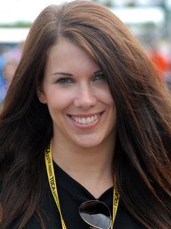 Sophie Fisher; grid girl to James Nash