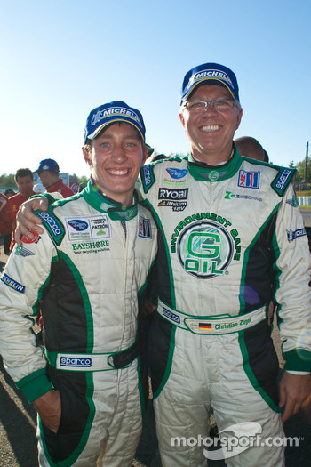 Frankie Montecalvo and Christian Zugel Celebrate Genoa Racing's podium Finish at The Grand Prix of Mosport