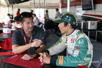 Roger Yasukawa and Takuma Sato, KV Racing Technology