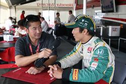 Roger Yasukawa and Takuma Sato, KV Racing Technology