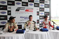 Press conference: race winner Dean Stoneman, second place Vasilauskas, third place Sergey Afanasiev