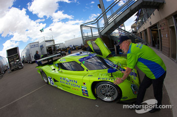 #75 Krohn Racing Ford Lola taken to technical inspection