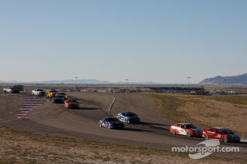 #55 Marren Motor Sports Inc. Honda Civic SI: Joe Toussaint leads a group of cars during a restart