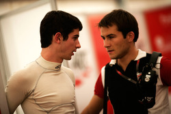 Alexander Rossi and his engineer