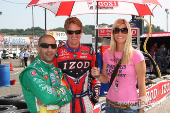 Tony Kanaan, Andretti Autosport, Ryan Hunter-Reay, Andretti Autosport with this girlfriend Beccy