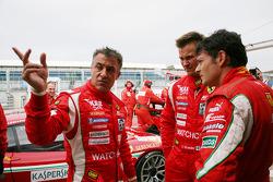 Jean Alesi, Toni Vilander and Giancarlo Fisichella