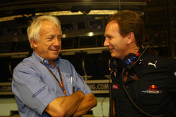Charlie Whiting, FIA Safty delegate, Race director &amp; offical starter and Christian Horner, Red Bull Racing, Sporting Director