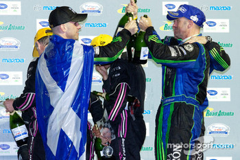 LMP2 podium: class winners David Brabham, Simon Pagenaud and Marino Franchitti