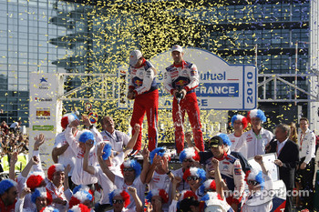 Podium: Sbastien Loeb and Daniel Elena, Citron C4, Citron Total World Rally Team