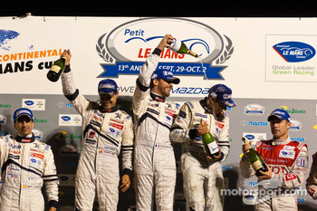 LMP1 podium: class and overall winners Pedro Lamy, Franck Montagny and Stphane Sarrazin