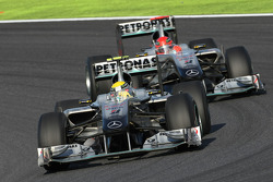 Michael Schumacher, Mercedes GP and Michael Schumacher, Mercedes GP