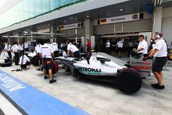 Mercedes GP pit area