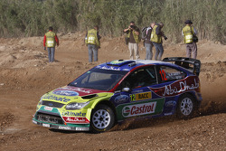 Khalid Al Qassimi and Michael Orr, Ford Focus RS WRC08, BP Ford Abu Dhabi World Rally Team