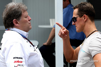 Norbert Haug, Mercedes, Motorsport chief, Michael Schumacher, Mercedes GP