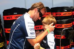 Rubens Barrichello, Williams F1 Team and his son
