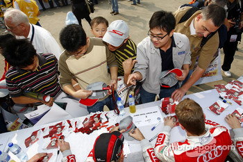 Audi drivers at the autograph session