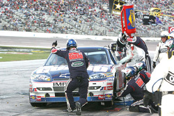 Dale Earnhardt Jr., Hendrick Motorsports Chevrolet splashes fuel out during the pit stop