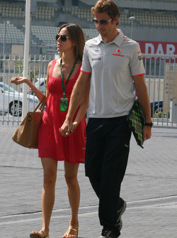 Jessica Michibata girlfriend of Jenson Button and Jenson Button, McLaren Mercedes